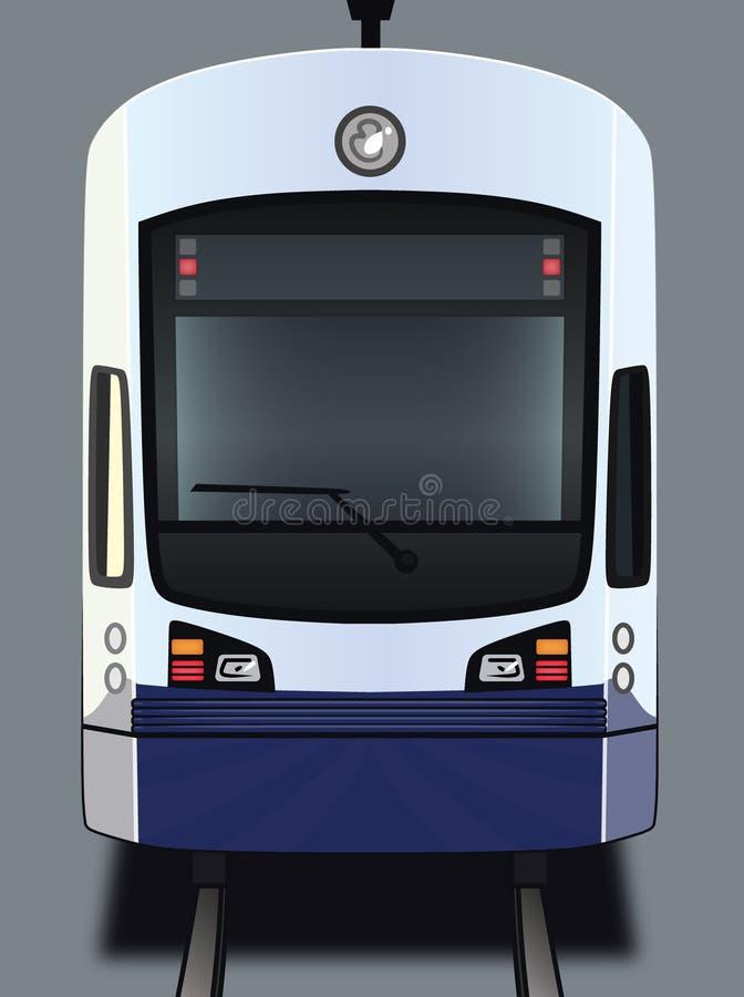 Light Rail Train. A art illustration of the front of a light rail train car stock illustration