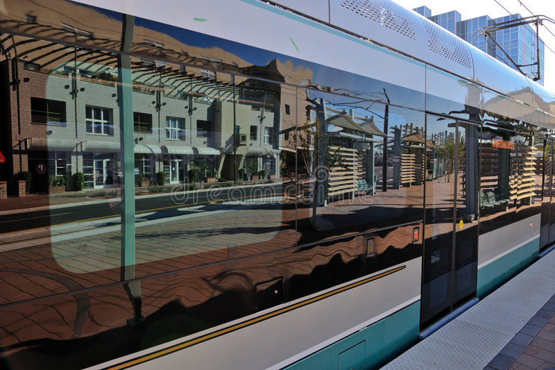 Light rail train carriage royalty free stock photo
