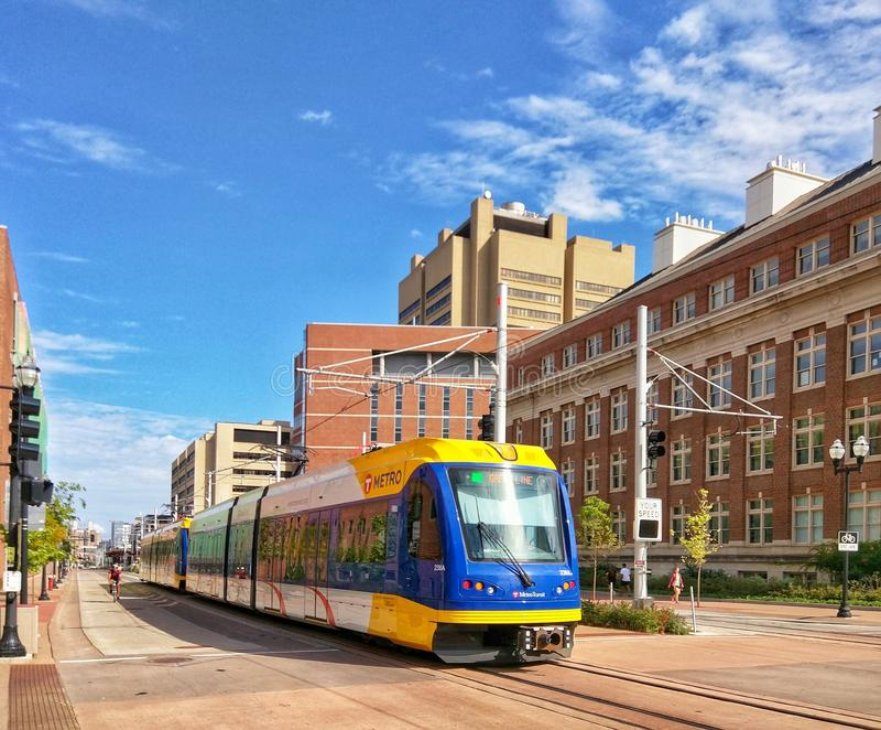 Light Rail train in Minneapolis Minnesota royalty free stock image
