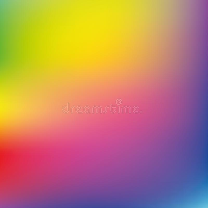 Light rainbow mesh vector background stock illustration