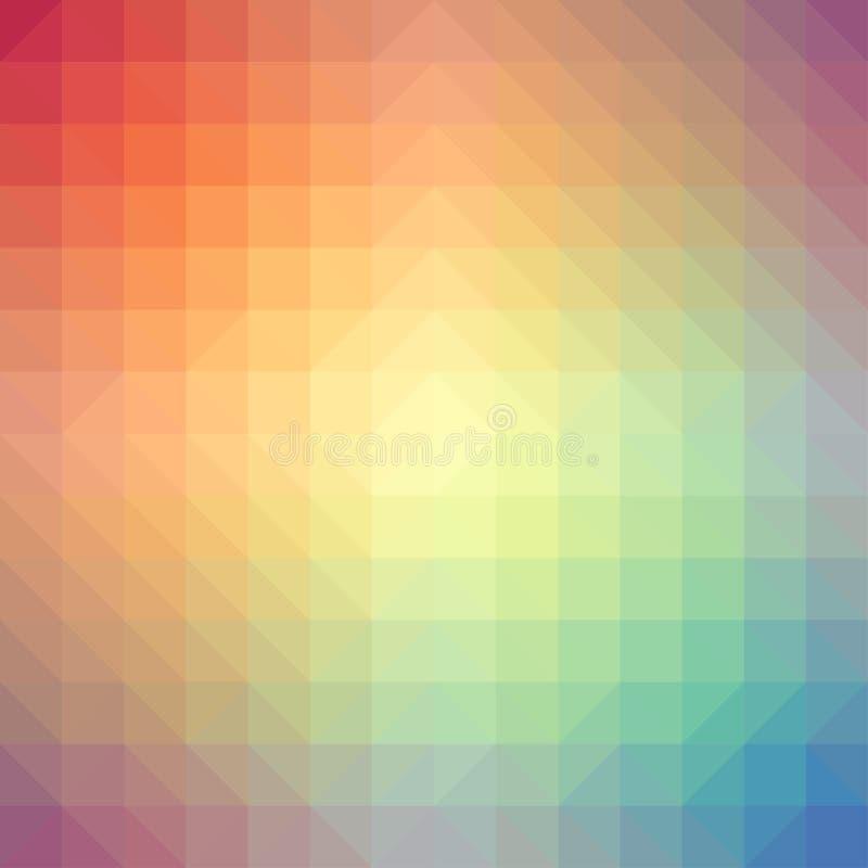 Light rainbow triangle gradient background vector illustration