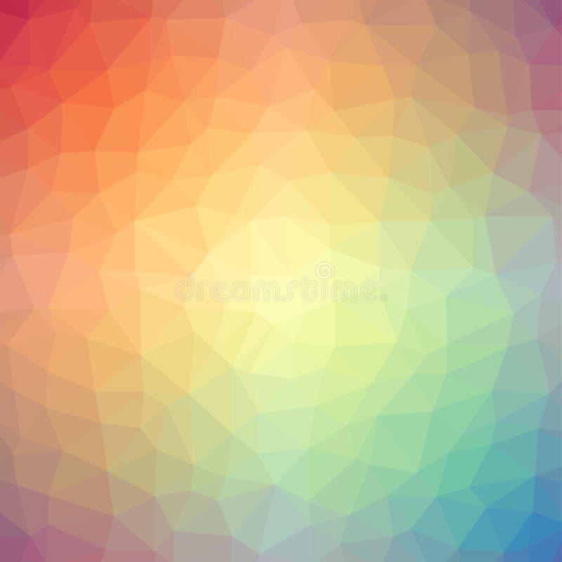 Light rainbow triangle gradient background stock illustration