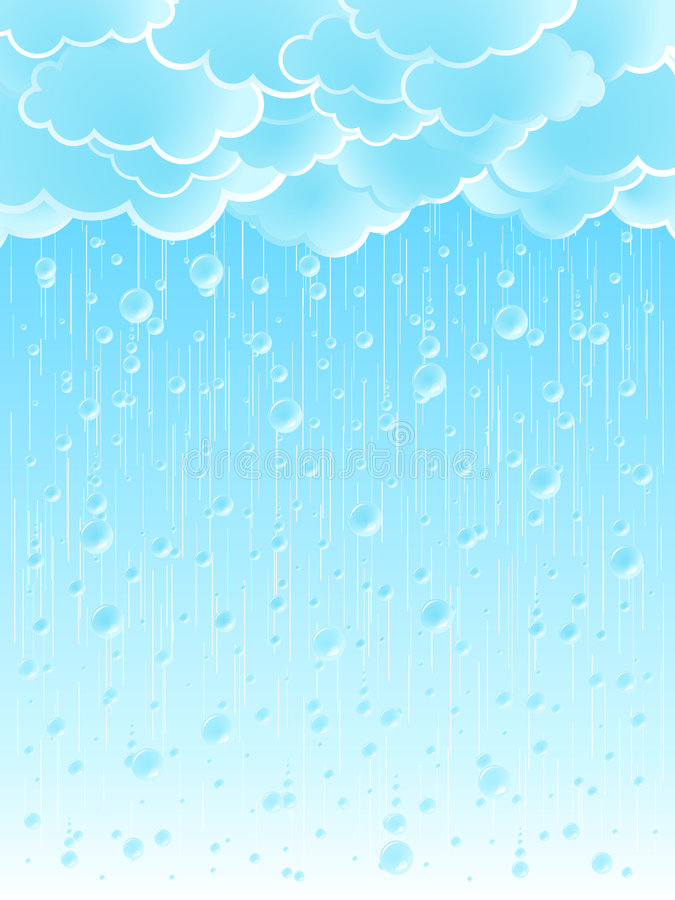 Download Light Raindrops Weather Background Stock Vector - Image: 5795086