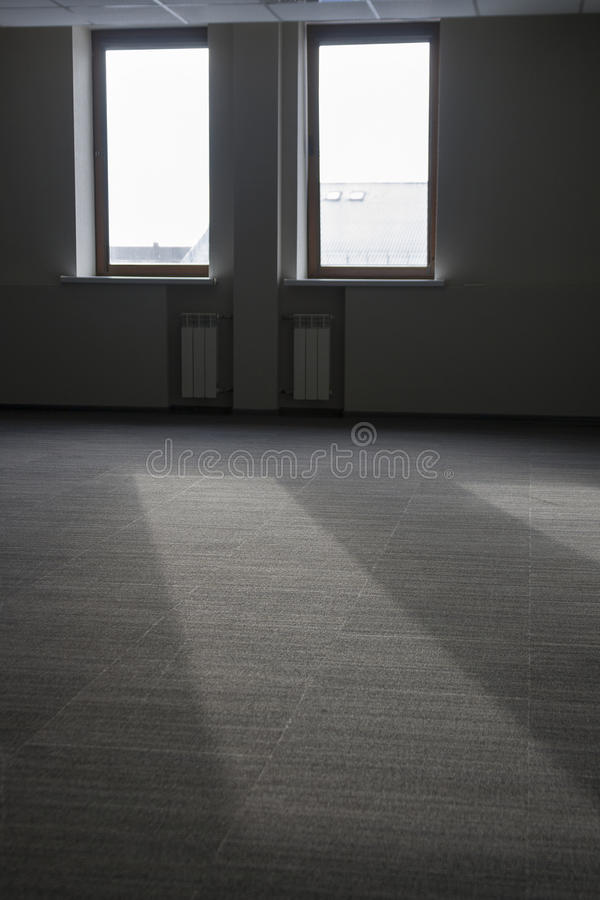Light ray from the vacant room window royalty free stock photo