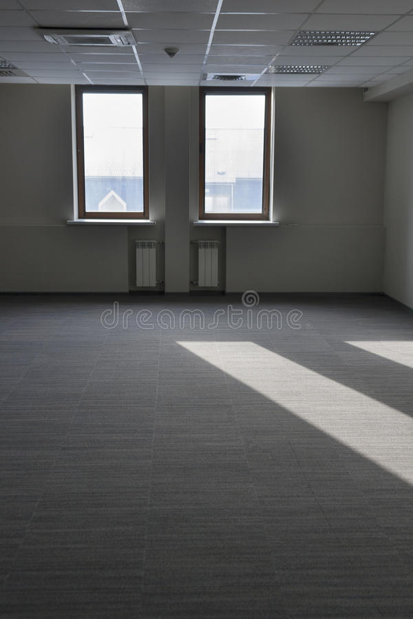 Light ray from the vacant room window royalty free stock images