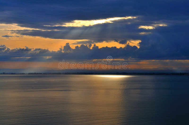 Download Light Rays stock image. Image of higher, water, below - 5530233