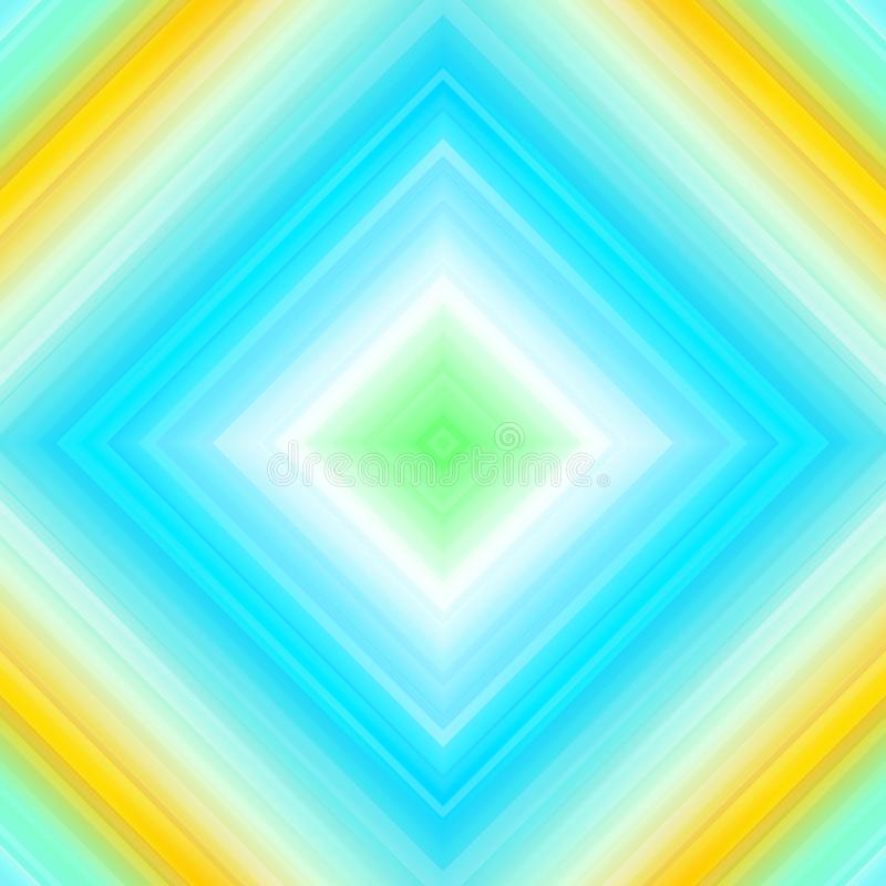 Light rays, abstract geometric colorful background, turquoise blue and yellow stock illustration