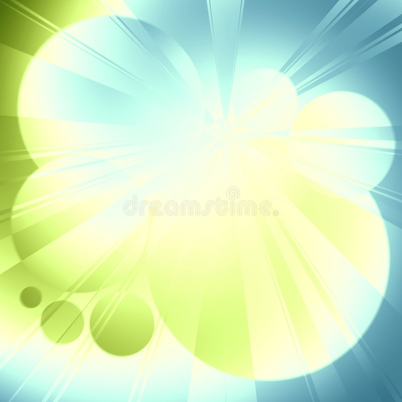 Light Rays Blue Green Glow vector illustration