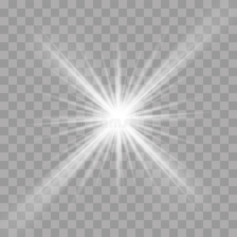 Light rays flash radiance effect vector star ray royalty free illustration