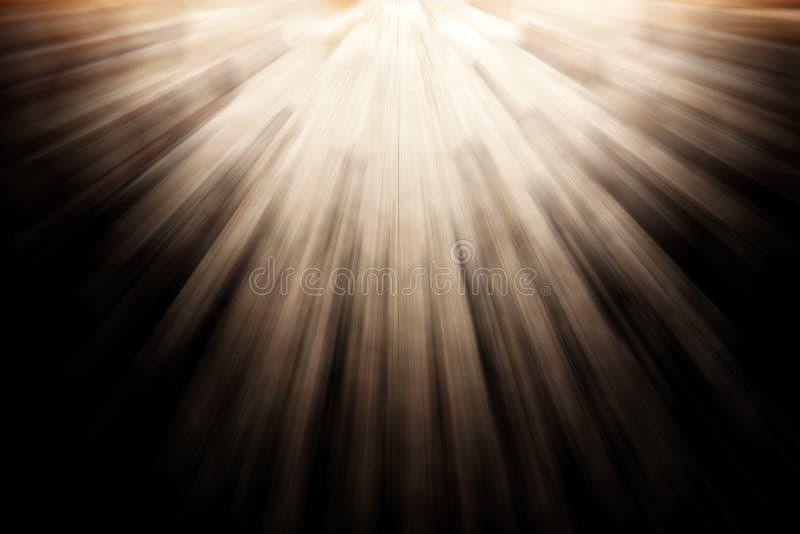 Light Rays. On night scene background
