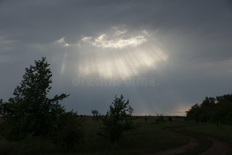 Light rays. Sliver of light, heavensun, sky royalty free stock image