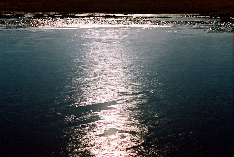 Light reflection on water stock image