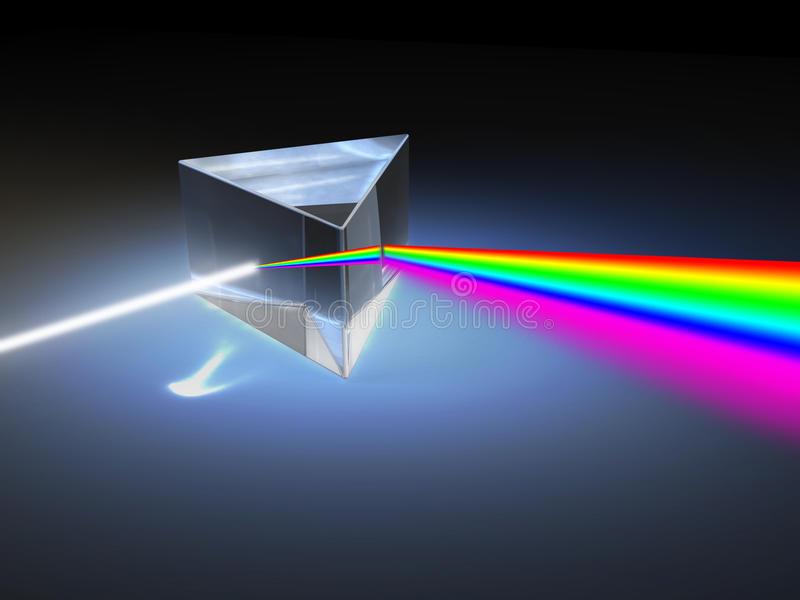 Light refraction vector illustration