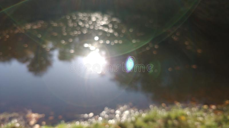 Light refraction in the camera lens royalty free stock images