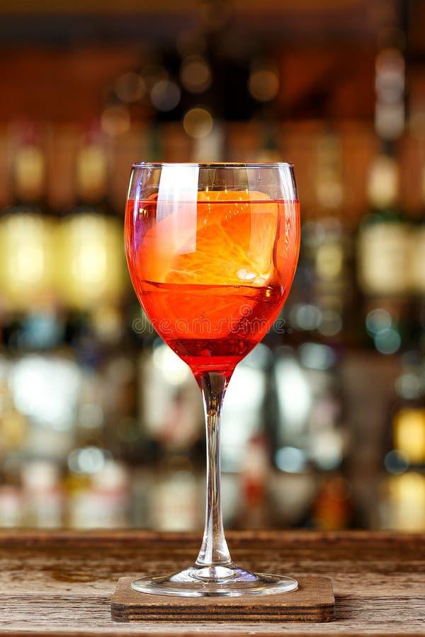 Light refreshing Italian aperitif royalty free stock photos