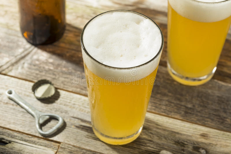 Light Refreshing Summer Craft Beer. In a Pint Glass royalty free stock image