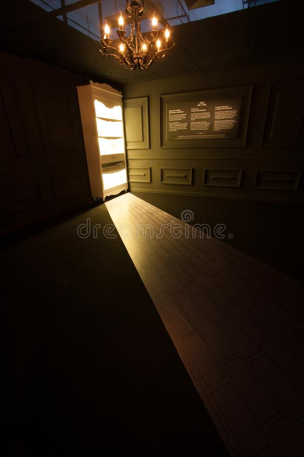 Light room lighting door library royalty free stock photography
