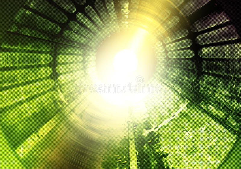 Light rotation tunnel experiment royalty free illustration