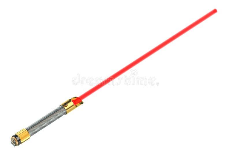 Light saber. Isolated on white background stock photo