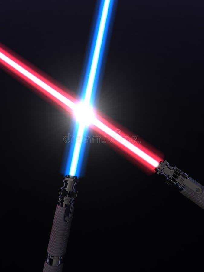 Light sabers stock illustration