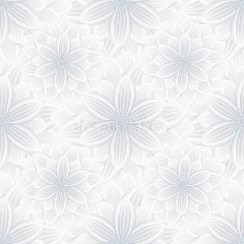 Floral Black And Grey Nature Tattoo: Light Seamless Pattern With Flower Chrysanthemum Stock