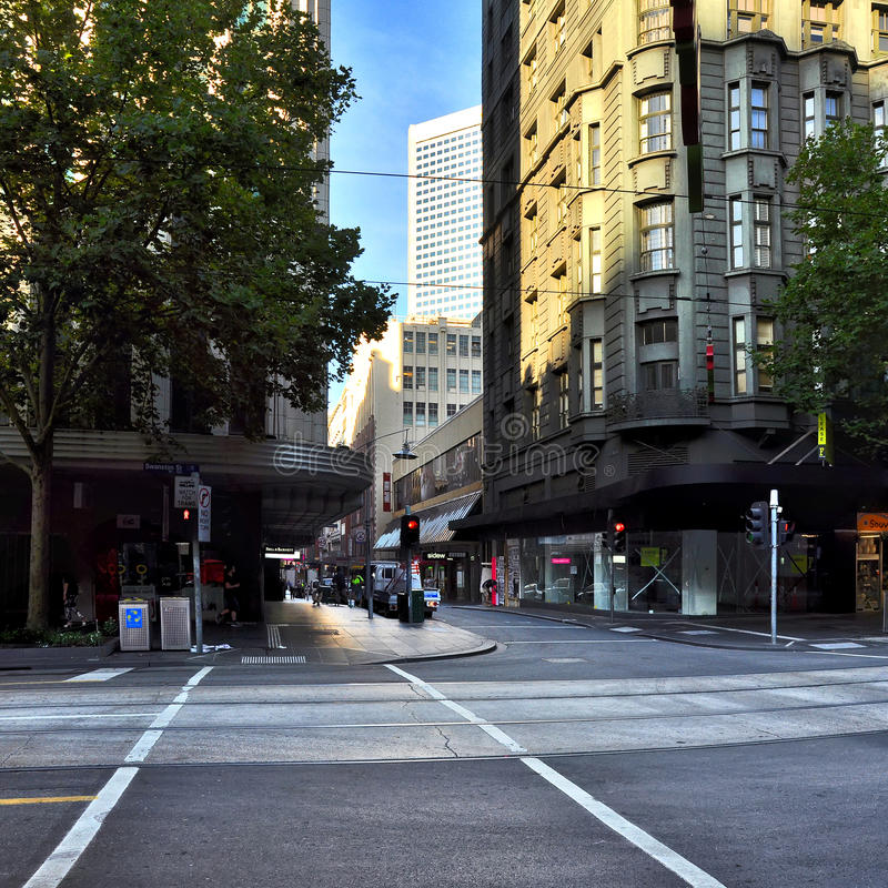 Light and shadow of the streets of Melbourne. Australia. Light and shadow of the streets of Melbourne royalty free stock photos