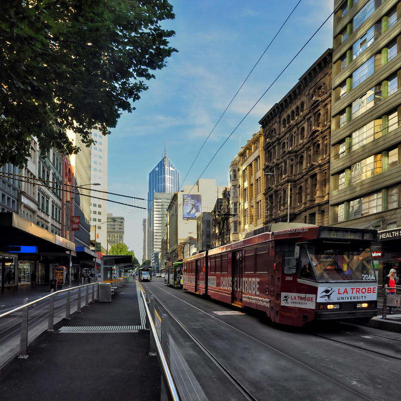 Light and shadow of the streets of Melbourne. Australia. Light and shadow of the streets of Melbourne stock photos