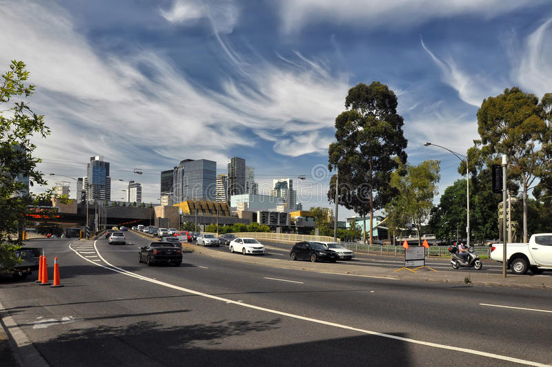 Light and shadow of the streets of Melbourne. Australia. Light and shadow of the streets of Melbourne royalty free stock photography