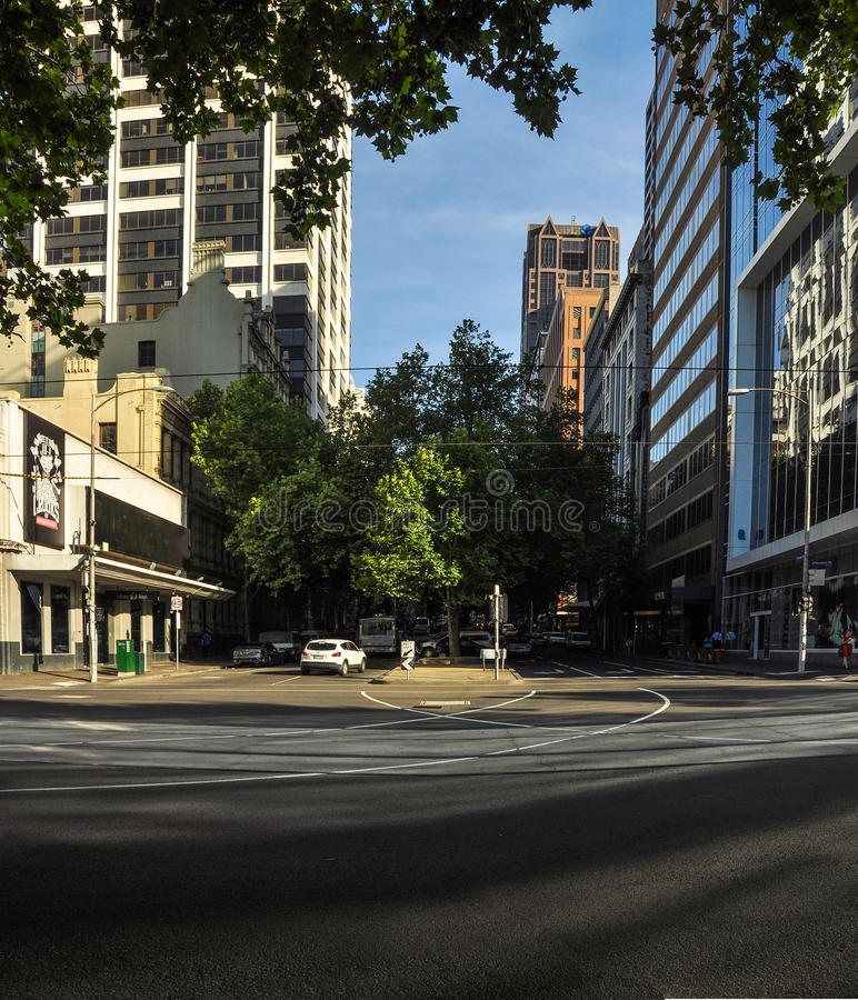Light and shadow of the streets of Melbourne. Australia. Light and shadow of the streets of Melbourne royalty free stock photo