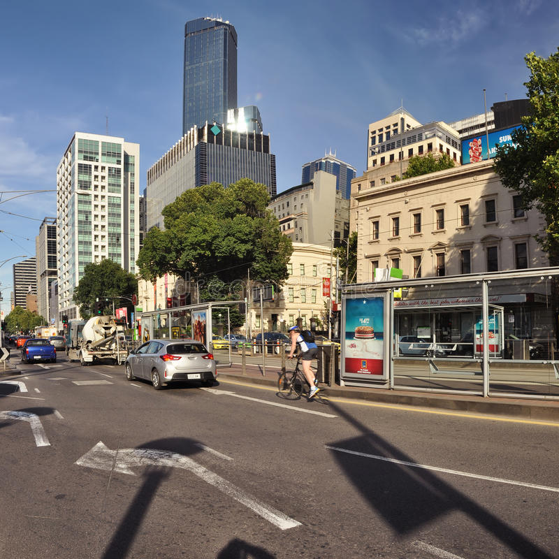 Light and shadow of the streets of Melbourne. Australia. Light and shadow of the streets of Melbourne stock image