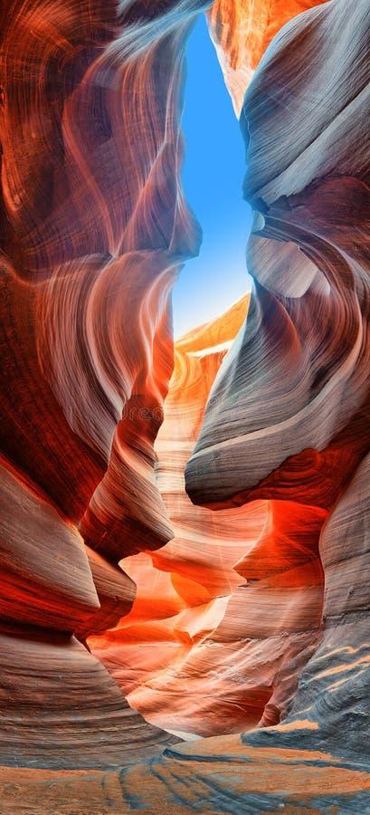 Light and shadows Antelope Canyon stock photos