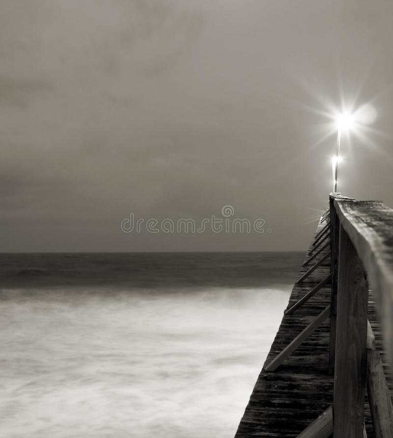 Download Light shining on pier stock photo. Image of motion, recedes - 21959532