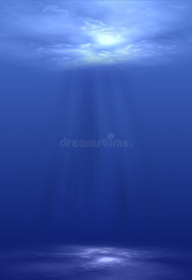 Light Shining Underwater royalty free stock photos