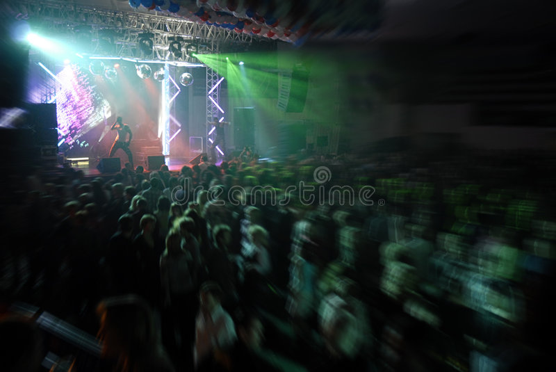 Light show. Discotheque with light and dance show stock photos