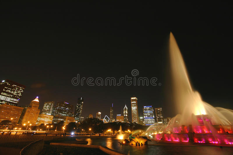 Download A Light Show At Buckingham Fountain Stock Image - Image: 26438367