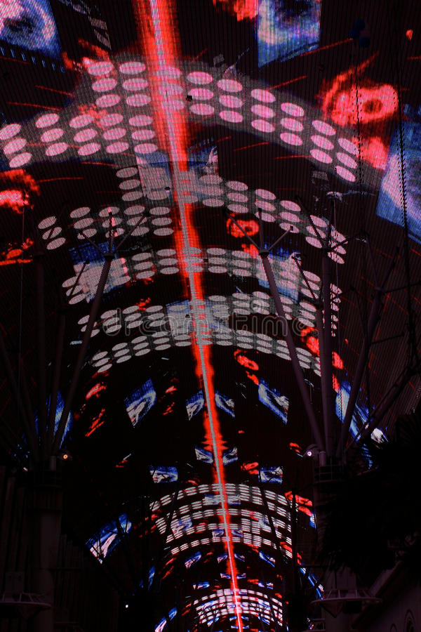Download Light Show On Freemont Street Editorial Photography - Image: 22289277