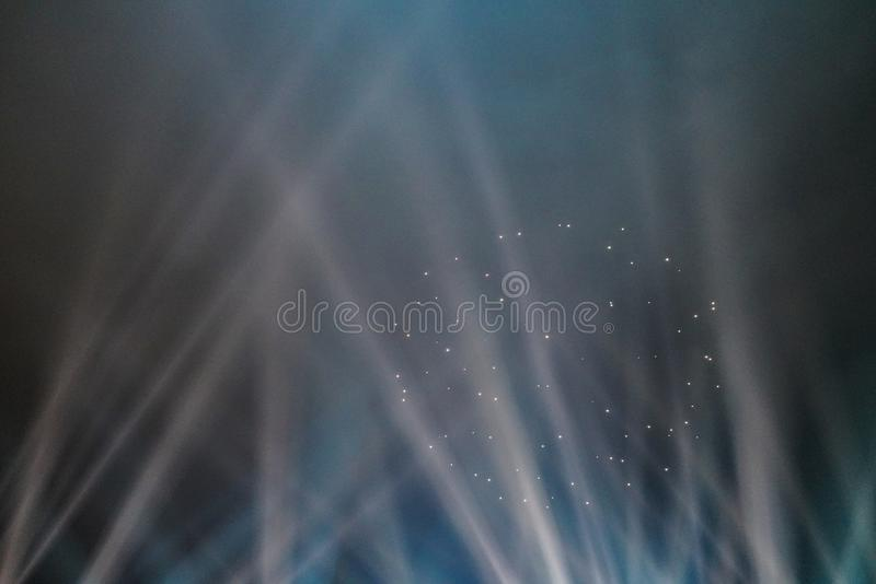 The light shows. Laser light show.  stock photography