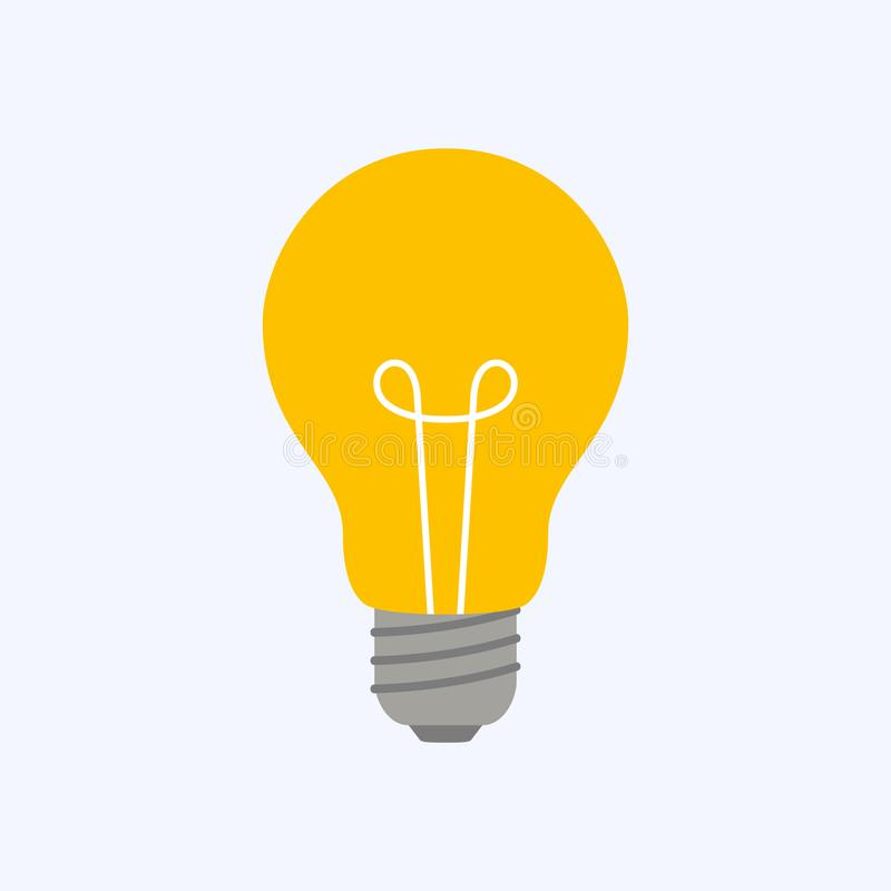 Light sign ideas and innovation stock illustration