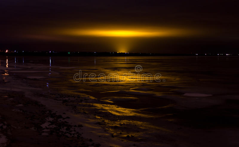 Light in a sky royalty free stock images