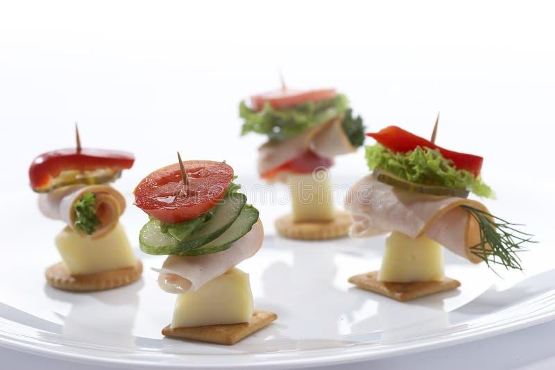 Light snack (cheese sandwich) stock photos