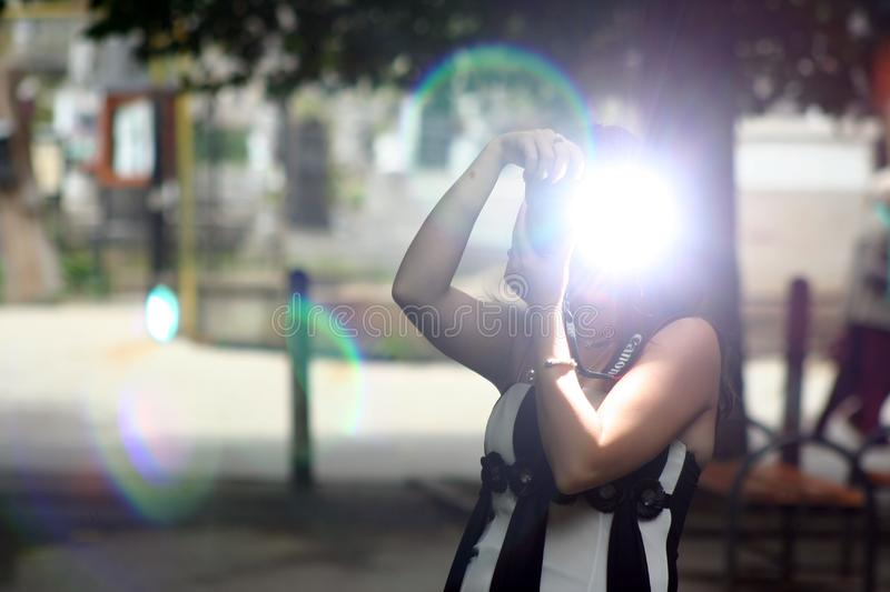 Light, Snapshot, Girl, Fun royalty free stock photos