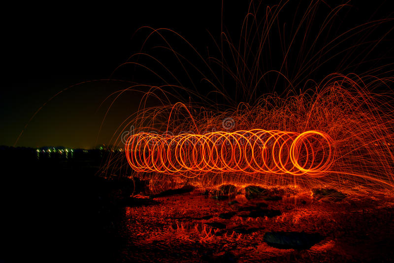 Light, spin. Turn the power play fun shows fire danger beating the heat stock photography