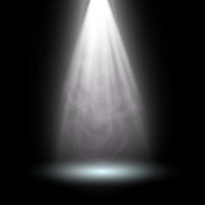 light spotlight white. template for light effect on black, Modern powerpoint