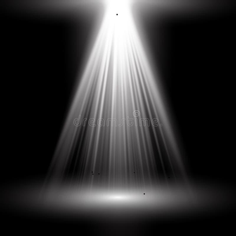 light spotlight white template for light effect on black
