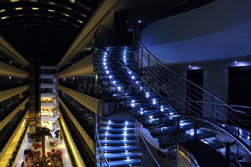 Light spral stairs stock photos