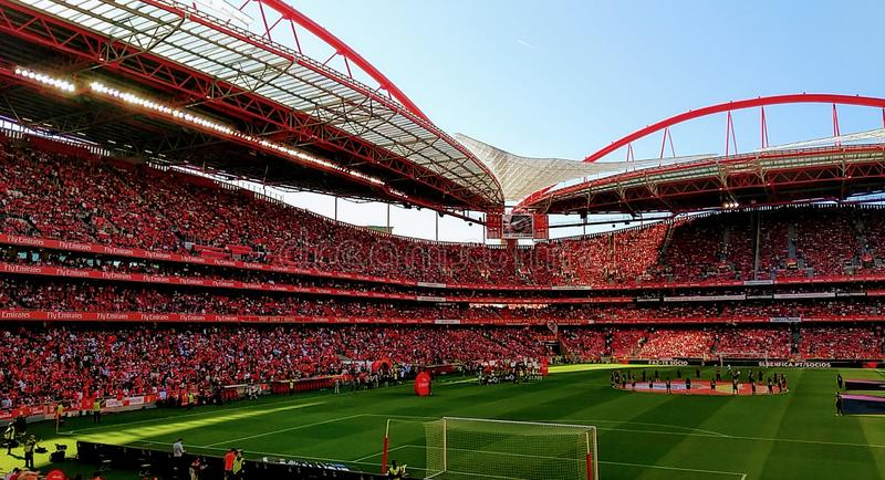 Benfica Soccer Stadium 2019, Portugal stock images