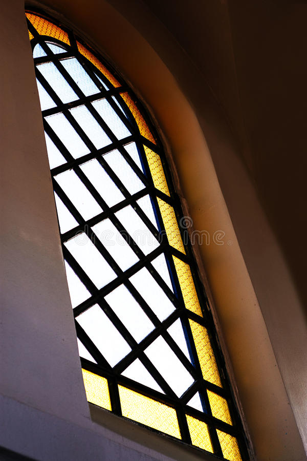 Light from stained glass window.  royalty free stock photo