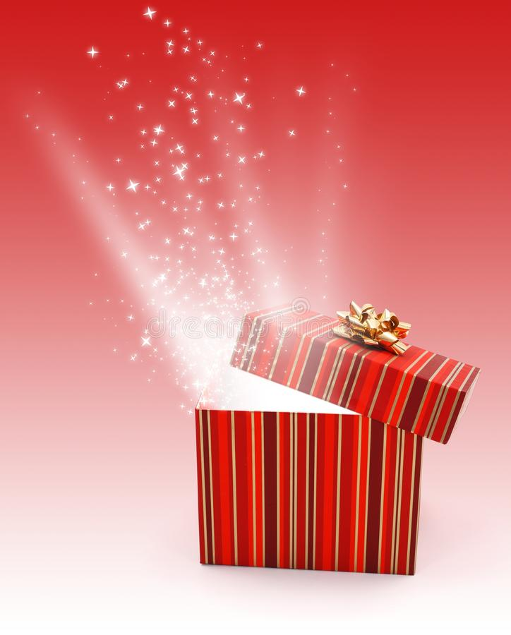Download Light And Stars Coming Out From Gift Box Stock Photo - Image: 21841976