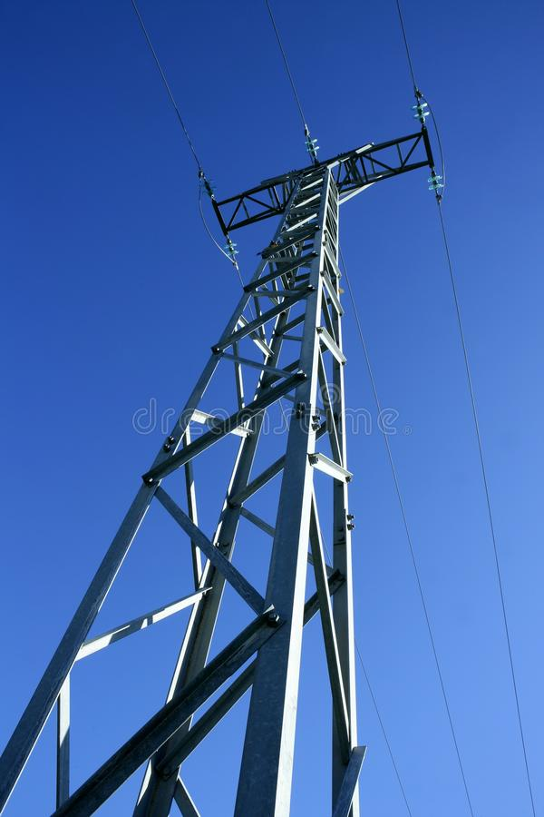 Download Light Steel Electricity Tower Pole Blue Sky Stock Photo - Image: 10538730