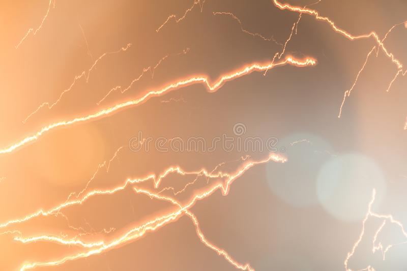 Light streaks that look like lightning and have beautiful. Colored lights royalty free stock images